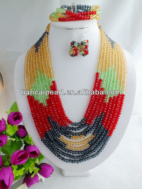 <strong>W</strong>-<strong>163</strong> African Weding Crystal Necklace Jewelry Set