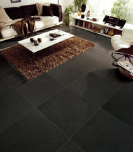 Low price plant glazed porcelain floor 60x60 black wood ceramic tile