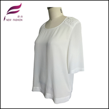 various styles down women short sleeve woven blouse tops shirt