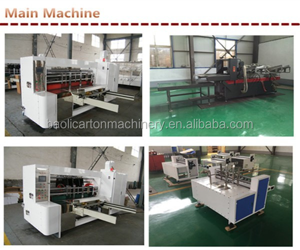 corrugated paperboard printer slotter machine/cardboard printing slotting machine/carton box machinery