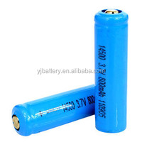 2015 Best selling 3.7v 800mah aa 14500 lithium ion battery