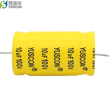 Axial and Radial 10 uF 100 V Aluminum Electrolytic Capacitors