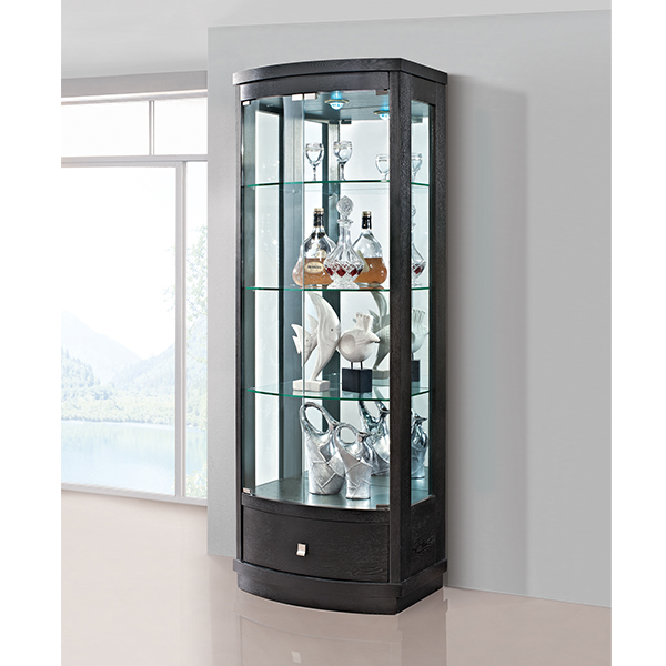 Glass revolving display cabinet buy glass revolving for Modern corner cabinets dining room