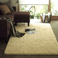 multipurpose long pile microfiber shaggy carpet and rug for living