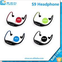 Mobile accessories of cheap bluetooth headphone headset for Promotion gift S9 headphone