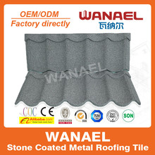 Wanael Modern 1260x470mm sand coated steel roofing materials Roof Covers Materials
