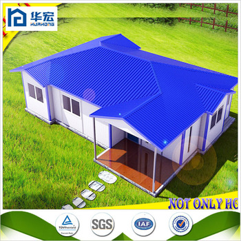 Light steel structure ready made economic prefab guest for Buy guest house