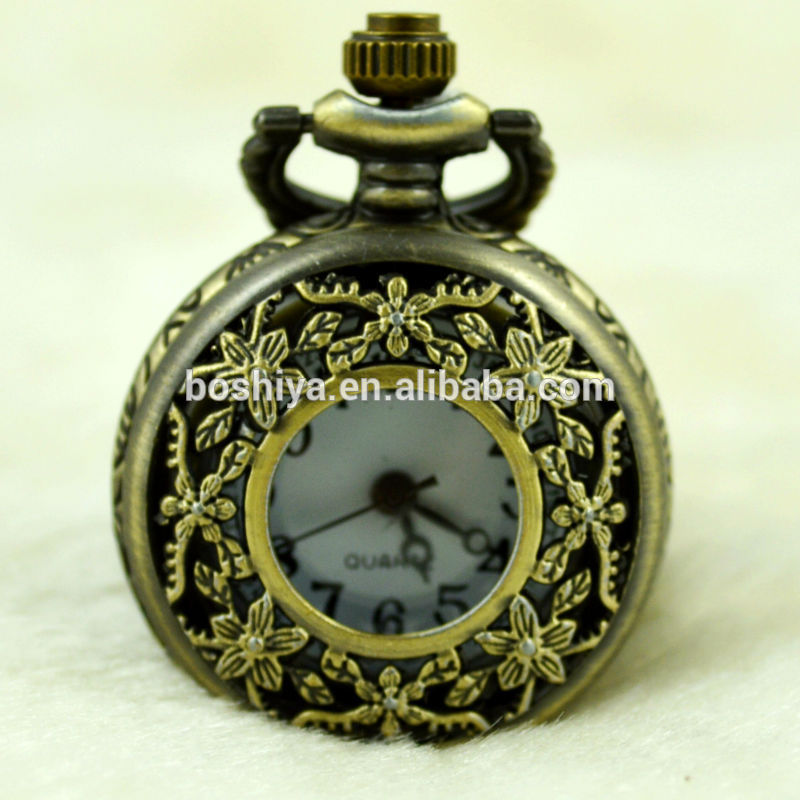 Mens Pocket Watch Made of Copper Arabic Number Collect