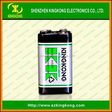 carbon zinc 9v dry cell battery 6F22 Primary