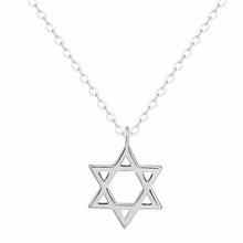 Silver 925 Necklace Hollow Star Necklace Sterling Silver Jewelry Fashion Women Statement Necklaces & Pendants Bijoux