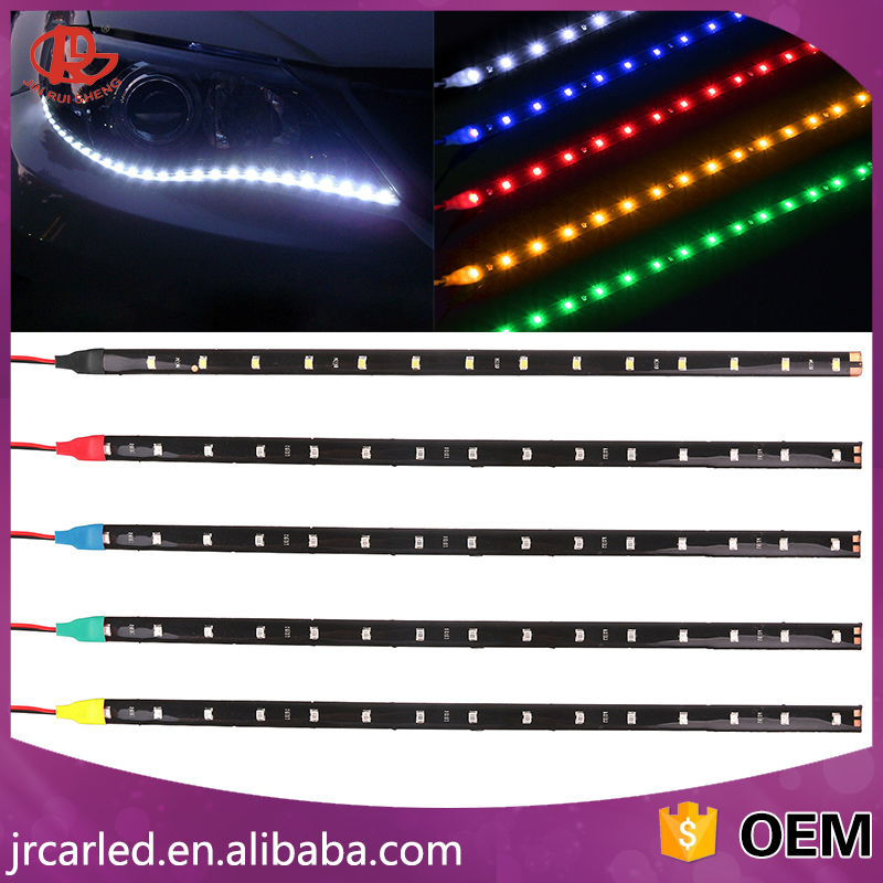 LED Strip white blue red yellow green warm white 30CM 15 SMD 3528 1210 LED flexible Waterfroof led strip 12V