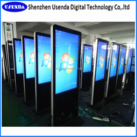 floor standing lcd advertising display,46inch touch screen all in one pc,digital banner stand display