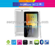 Washion M72 Android 4.1 Dual Core 7 inch Tablet 3G GPS Phone call Bluetooth Wifi FM Dual Camera 1024X600