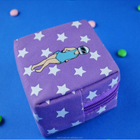 Fashion Purple Bulk Wholesale Canvas Lightning Coin Purse