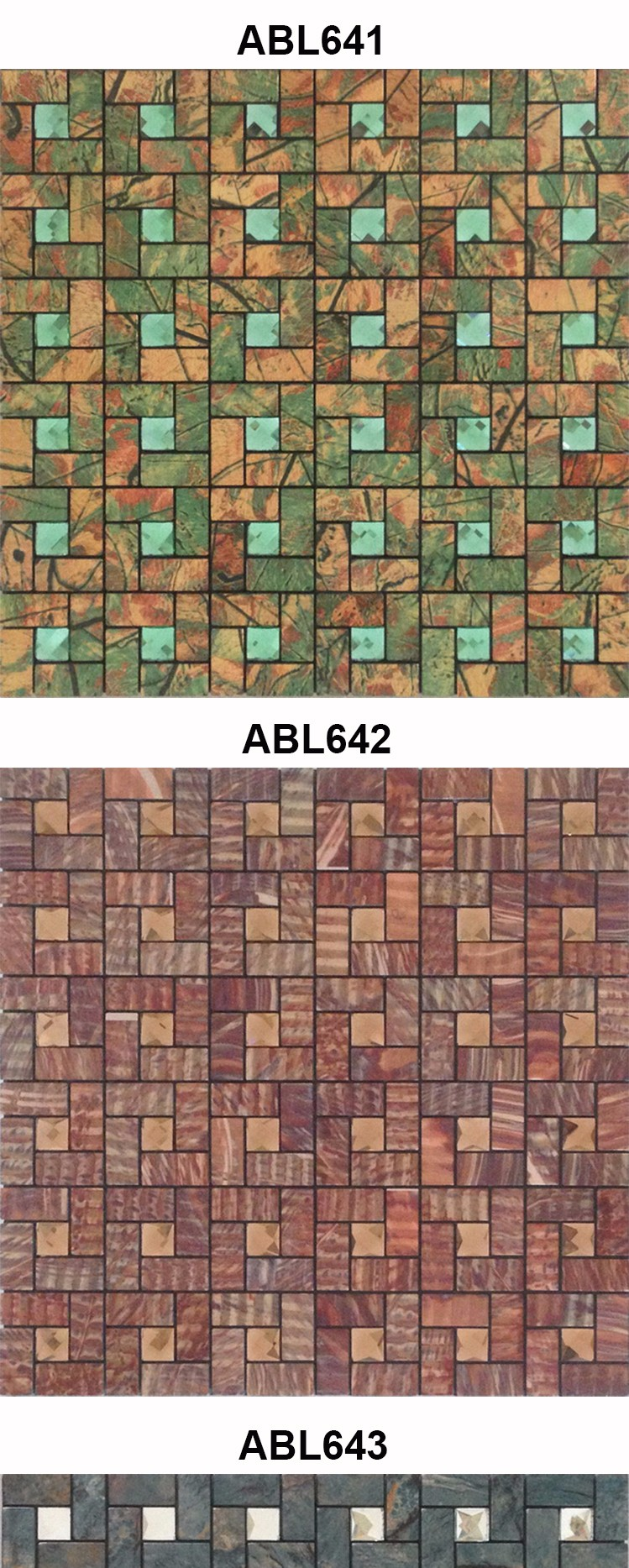 Modern kitchen Building Materials Set drill Metal Mosaic Tile Bathroom Design Home Decoration Mosaics Tile China Supplier ABL09