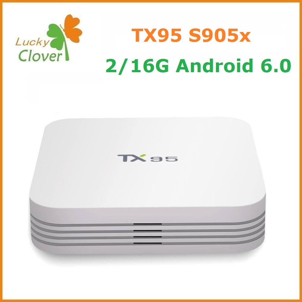 Wholesale price TX95 Android 6.0 TV Box Bluetooth 4.1 Dual Band Wifi 2.4G 5.8G smart tv box