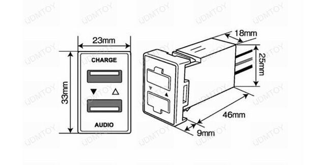 toyota vigo dual usb ports sockets chargers for