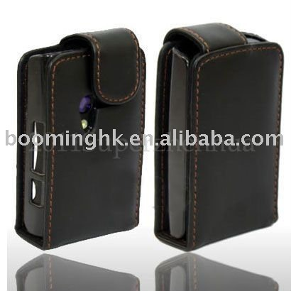 For SONY ERICSSON XPERIA X10 MINI FLIP LEATHER CASE