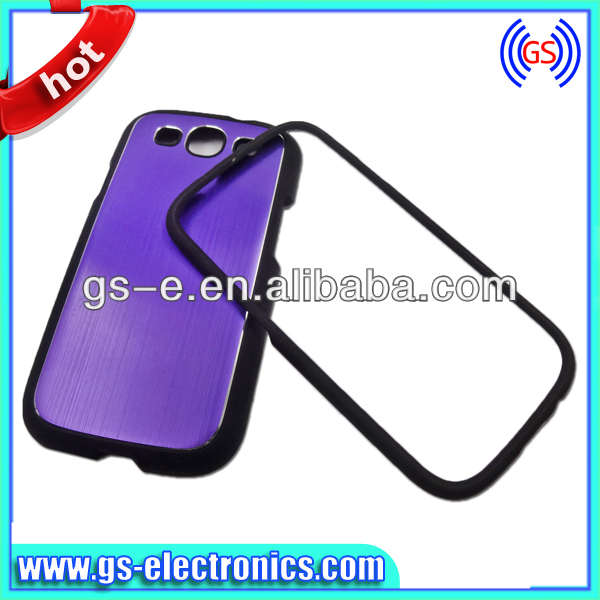 2 In 1 Chorme Plating Microphone Design Silicone Hard Cute Case for Samsung Galaxy S3,Galaxy S3