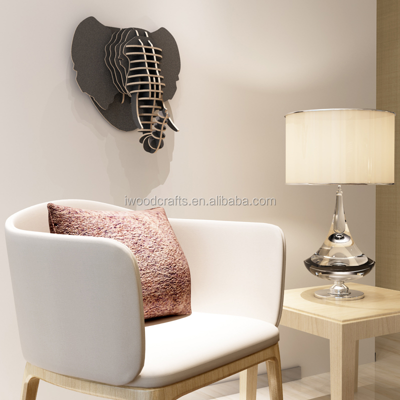 Wall animal head hanging sculpture, Mammoth head hanging