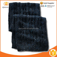Custom winter men knit scarf thick knit scarf wholesale