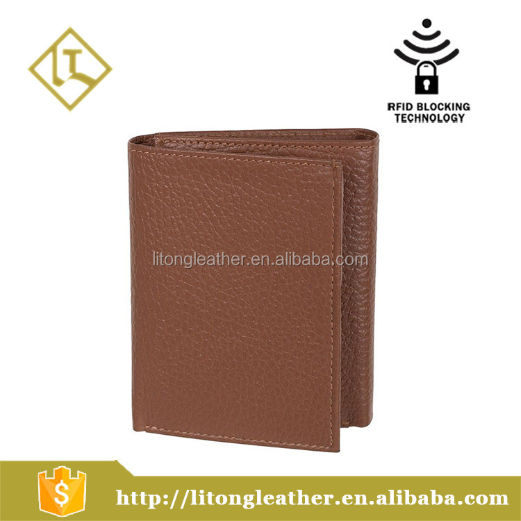 Access Denied Mens RFID Trifold Travel Wallet Secure ID Genuine Leather