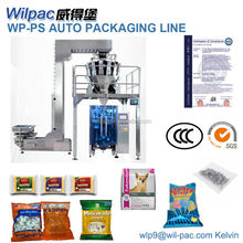 chicken wings pouch packaging machine with label one unit packing