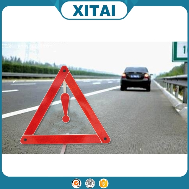 High quality 39cm car reflective warning triangle sign with best price