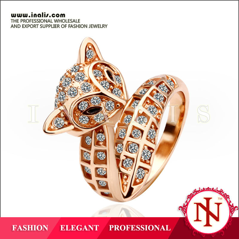 hot sale hot sale gold plated women jewelry animal sex with animals rings R026