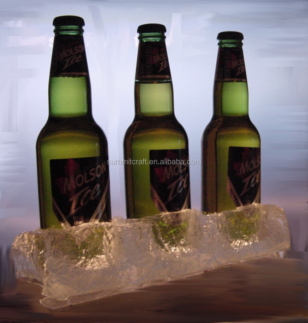 Custom resin LED ice effect bottle glorifier