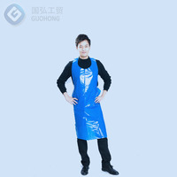 PE Apron restaurant kitchen for adults colorful disposable plastic apron