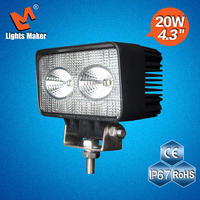 LML-0920 20W Car accessories EMC LED work light auxiliary light great for Crane Forklift Harvester Road Roller