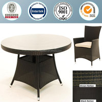 Rattan garden furniture outdoor Dining table and chair set