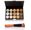 Makeup Contour Kit with brush, 15 Color Concealer Camouflage Palette, concealer for dark circles