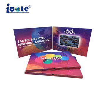 Cote LCD Video Brochure Greenting Promotion Book, 5 Inch Lcd Video Brochure