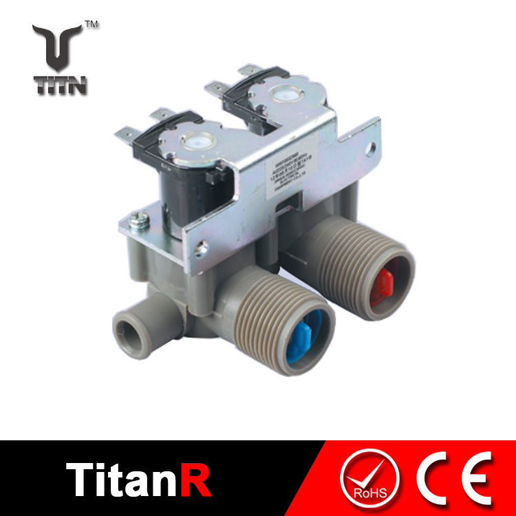 Washing machine 3 way water solenoid valve inlet dual water valve for washing machine