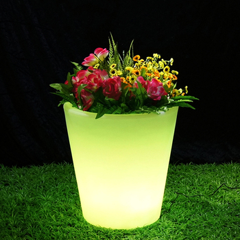 Garden furniture light up illuminated painting garden led flower pots