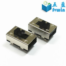 Miniature 2 position DPDT slide switch