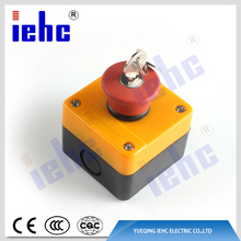 XAL series waterproof mushroom head emergency stop push button switch control station box with key