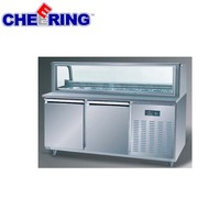 industrial food counter refrigerator pizza workbench pizza pre table for restaurant