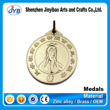 cheap sterling silver 3d metal saint medals for wholesale
