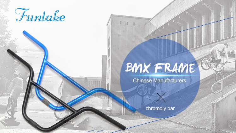 Funsea customized high quality cheap price RC-BMX-01 bicycle BMX  light weight chromoly 4130 bar bike handle bmx bar