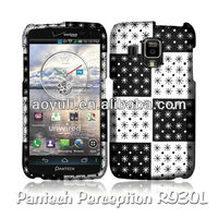 block plaid rubber painting mobile phone case for Pantech Perception R930L,mobile phone accessory