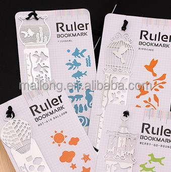 Hollow out 4 classical metal ruler bookmarks gifts creative students Stationery restoring ancient ways PN5305