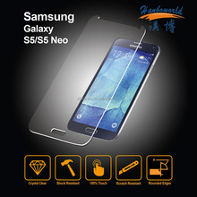 Wholesale promotion For Samsung Galaxy s5 clear tempered glass full cover screen protector