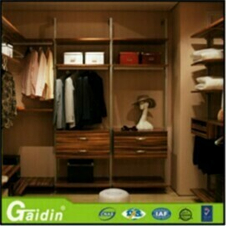 Promotional hot sale adjustable back color metal livingroom garment wardrobe with non-woven wire shelf cover