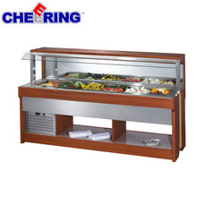 Hot sale commercial black electric cooling salad bar with factory price