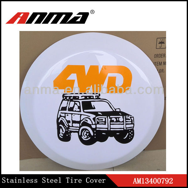 High quantity ABS spare wheel covers/Covers for spare tire/spare wheel parts/ universal tyoe