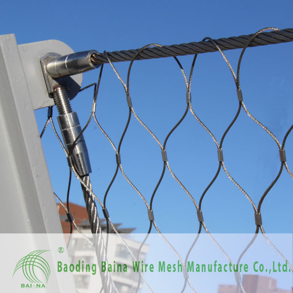 alibaba china supplier stainless steel flexible netting tennis court fence