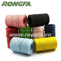flexible and tying knots easily coiled colorful twisted packing rope